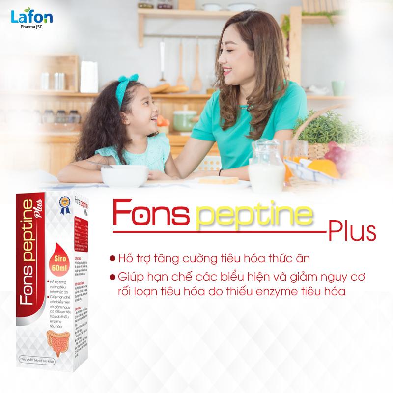 Fons Peptine Plus - Hỗ trợ tăng cường tiêu hóa, giúp ăn ngon, tăng sức đề kháng