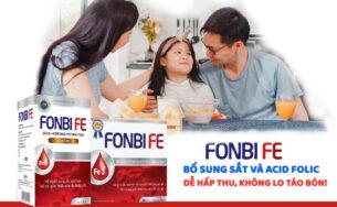 Fonbife dạng ống – Bổ sung sắt, acid folic hỗ trợ quá trình tạo máu, giúp giảm thiếu máu do thiếu sắt.