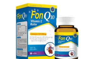 Fon Q10 – Bổ sung các chất chống oxy hóa, hỗ trợ giảm cholesterol máu và nguy cơ xơ vữa động mạch do cholesterol máu cao.